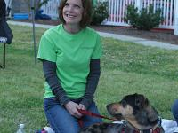 lady in green shirt